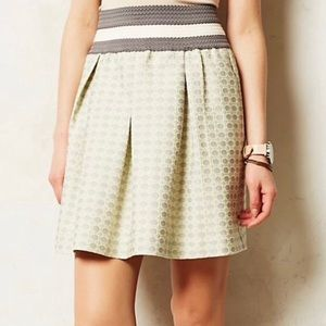 Anthropologie Maeve fit and flare mini skirt